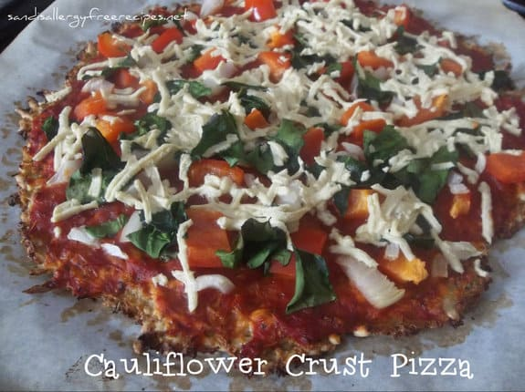 Cauliflower Crust Pizza from Sandi's Allergy-Free Recipes