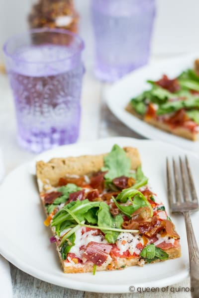 Gluten-Free Multigrain Pizza Crust from Queen of Quinoa