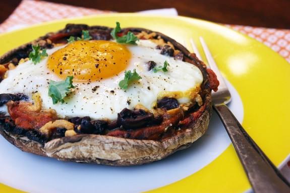 Gluten-Free Portobello Mushroom Egg Pizza from Tasty Eats At Home