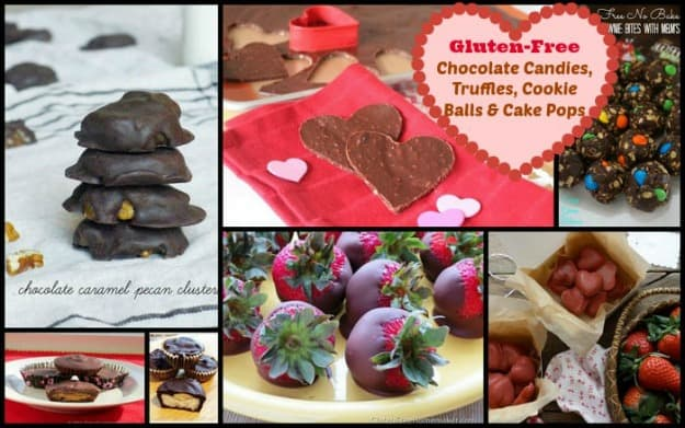 50 Ways to Leave Your Lover ... Satisfied with Gluten-Free Chocolate Desserts.  Gluten-free chocolate candy, truffles, cookies balls, and cake pops. [featured on GlutenFreeEasily.com]