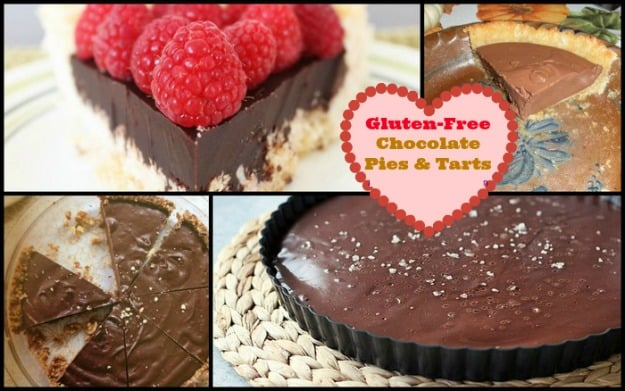 50 Ways to Leave Your Lover ... Satisfied with Gluten-Free Chocolate Desserts. Featured here on gluten-free chocolate pies and tarts. [on GlutenFreeEasily.com]