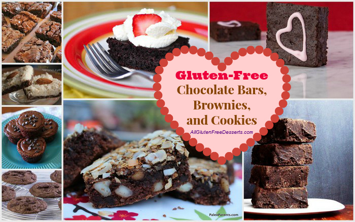 Are these your or your sweetheart's favorite chocolate goodies? 50 Ways to Leave Your Lover Satisfied with Chocolate (Gluten-Free Chocolate Bars, Brownies, and Cookies)