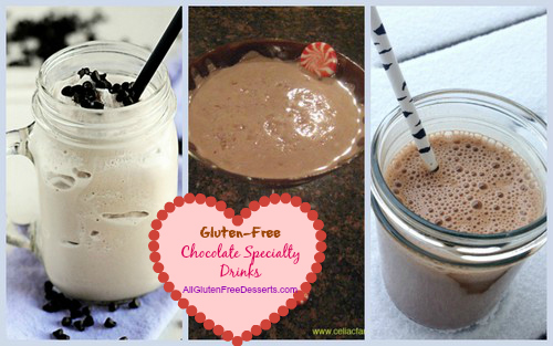 Don't these beverages look great? 50 Ways to Satisfy Your Lover with Gluten-Free Chocolate Specialty Drinks