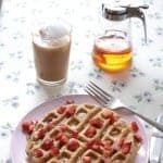 Gluten-Free Double Strawberry Waffles