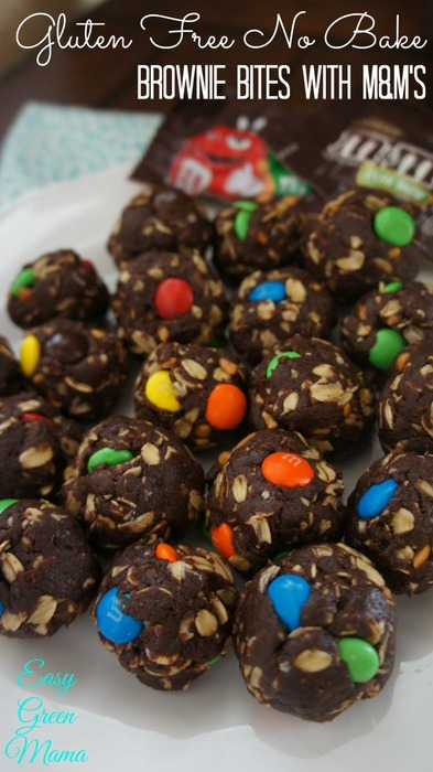 Gluten-Free No-Bake Brownie Bites from Easy Green Mom