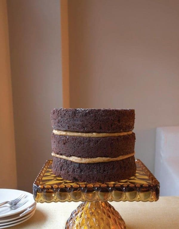 Mile-High Chocolate Cake with Pumpkin Custard from Gluten-Free Entertaining