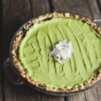 Chocolate, Avocado, Coconut, and Lime Pie from Cooking with Coconut Oil by Elizabeth Nyland