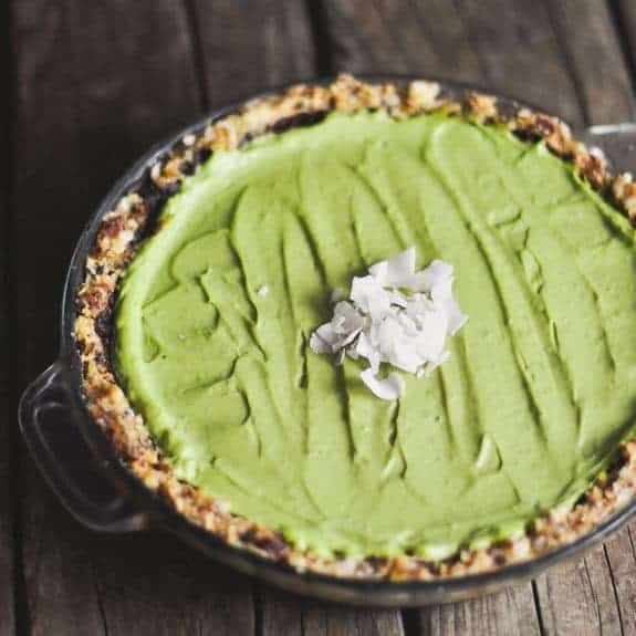 Chocolate Avocado Coconut and Lime Pie from Cooking with Coconut Oil by Elizabeth Nyland