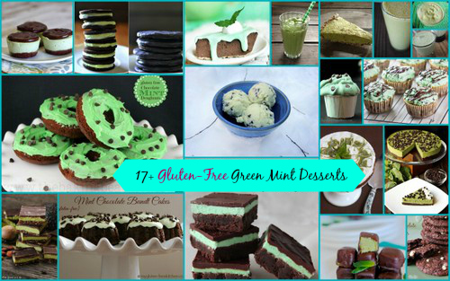 Gluten-free green mint desserts for St. Patrick's Day. Or any day really. Over 17 of them! [from GlutenFreeEasily.com] (photo)