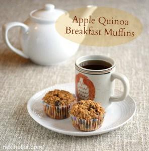 Apple-Quinoa Breakfast Muffins from Ricki Heller