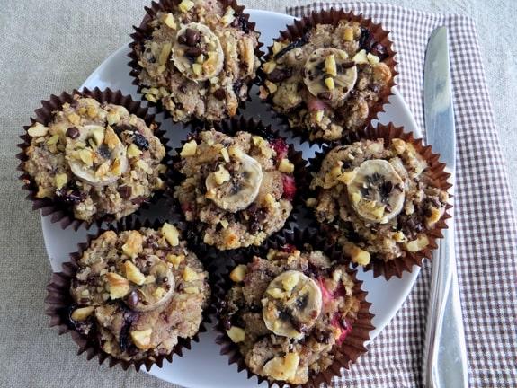 Banana Split Muffins Group from Pocketfuls