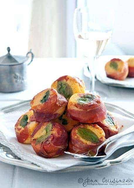 Basil Corn Prosciutto Cake Muffins from Jenn Oliver. One of many fabulous Gluten-Free Mother's Day Brunch Recipes!