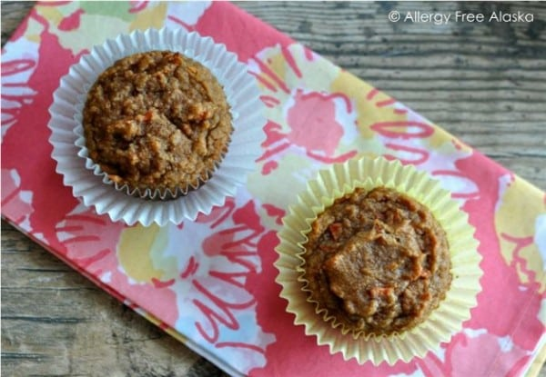 Carrot Muffins Pair Allergy Free Alaska