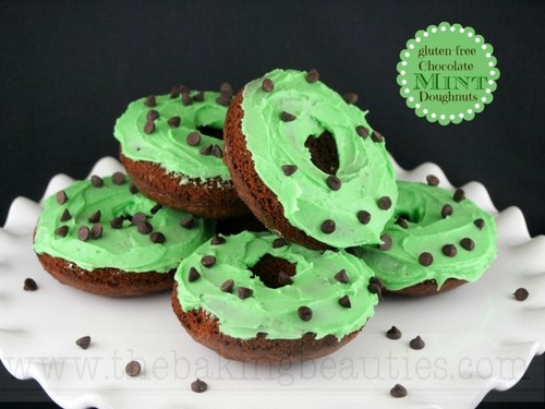 Chocolate Mint Doughnuts from The Baking Doughnuts
