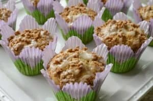 The beloved coffee cake goes individual in these delightful Coffee Cake Muffins from Celiac in the City. (photo)