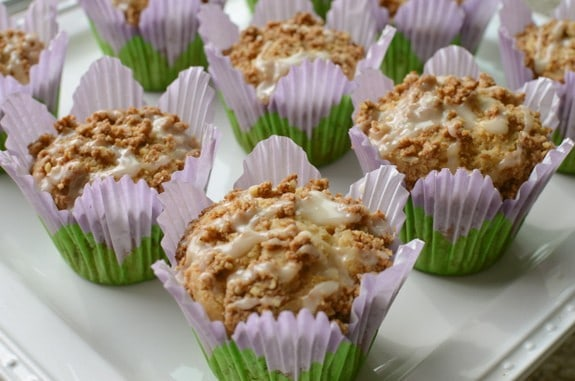 Coffee Cake Muffins on Plate Celiac in the City