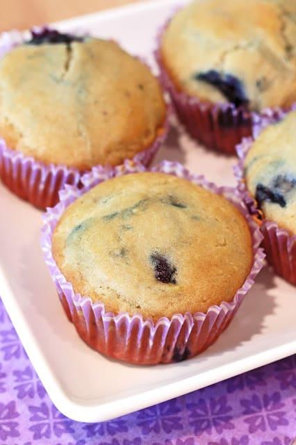 Gluten-Free Vegan Blueberry Muffins. From Sarah Bakes Gluten Free.