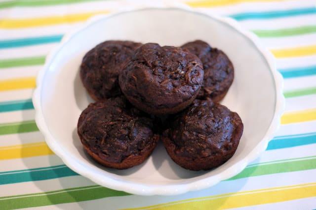 Gluten-Free Chocolate Zucchini Muffins. Recipe from Sarah Bakes Gluten Free.