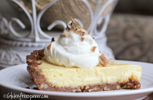 Key Lime Pie with a Ginger Crust from Gluten Free Spinner