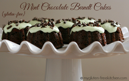 Mint Chocolate Bundt Cakes from My Gluten-Free Kitchen