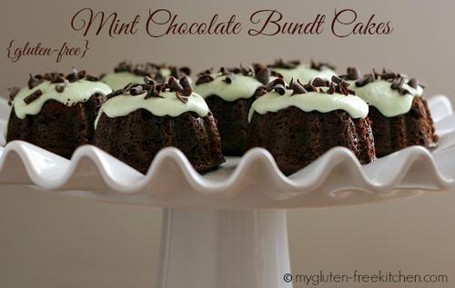 Mint Chocolate Bundt Cakes from My Gluten-Free Kitchen