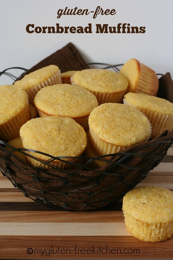 If you're a lover of sweeter corn muffins, you'll flip over these Gluten-Free Classic Sweet Cornbread Muffins from My Gluten-Free Kitchen! (photo)