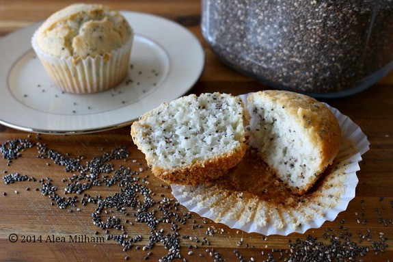 Gluten-free Lemon Chia Seed Muffins from Premeditated Leftovers