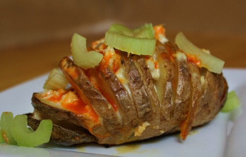 Buffalo Hasselback Potatoes from In Johnna's Kitchen