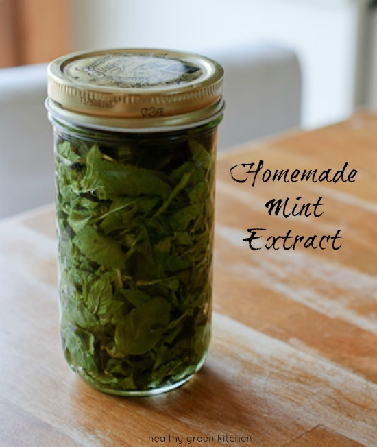 Homemade Mint Extract from Healthy Green Kitchen