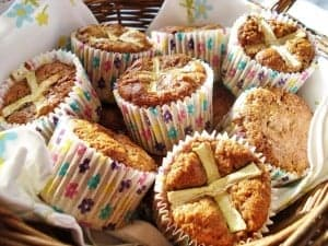 Hot Cross Carrot Muffins from Gluten Free SCD and Veggie