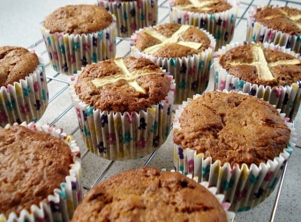 Hot Cross Carrot Muffins Cooling GF SCD and Veggie