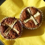 Hot Cross Carrot Muffins