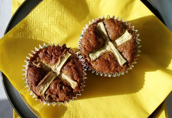 Hot Cross Carrot Muffins Gluten Free SCD and Veggie