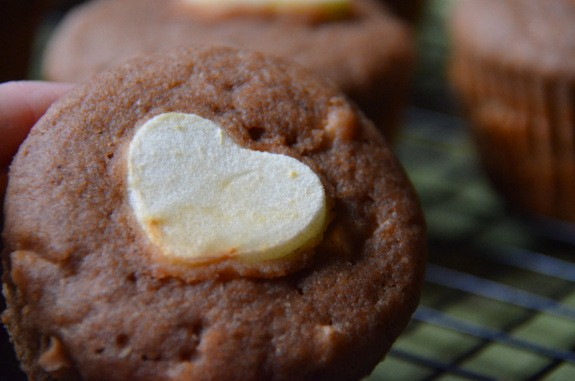 Gluten-Free Cinnamon Apple Muffins That Say I Love You are sure to melt everyone's hearts and delight their tummies. Gluten free. From The Tasty Alternative. [featured on GlutenFreeEasily.com] (photo)