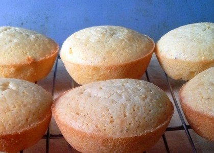 Johnny Cake Muffins Close-up from The Mommy Bowl