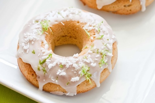 Gluten-Free Key Lime Pie Donuts