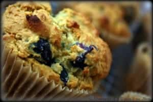 Got blueberries? These Knee Slappin' Good Blueberry Muffins Adventures of a Gluten-Free Mom are a fabulous way to use them! (photo)