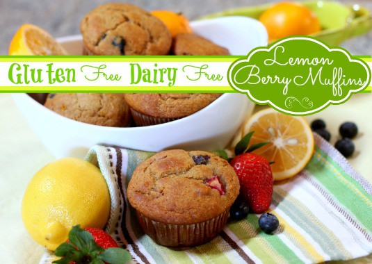 These muffins have the perfect hint of spring with the pairing of citrus and berries. Also a great addition to a brunch. [featured on GlutenFreeEasily.com]
