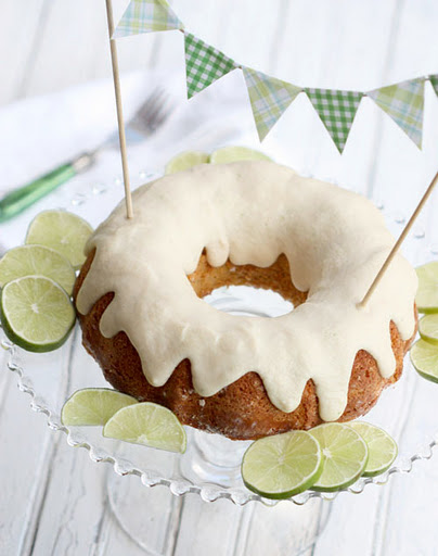 Lime Bundt Cake from The Spunky Coconut