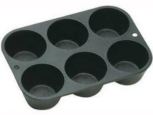 Lodge L5P3 Seasoned Cast Iron Cookware Muffin Pan