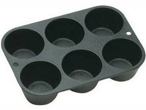 Lodge L5P3 Seasoned Cast Iron Cookware Muffin Pan