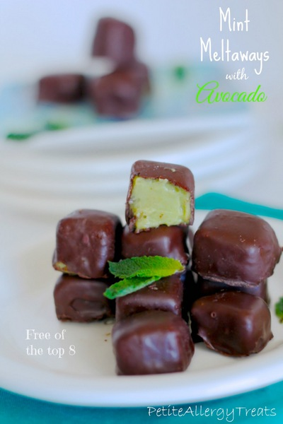 Mint Meltaways with Avocado from Petite Allergy Treats