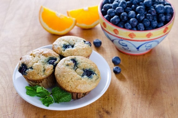 Orange Blueberry Muffins from Cook Eat Paleo