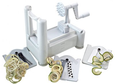 Paderno World Cuisine Tri-Blade Spiral Vegetable Slicer