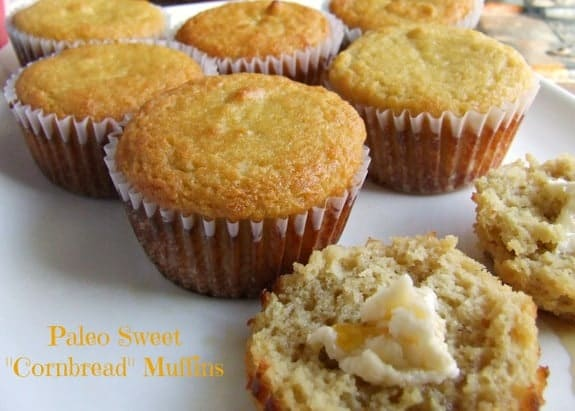 These Paleo Sweet Cornbread Muffins from Cassidy's Craveable Creations don't actually include cornmeal as they're paleo, but they sure taste like it! Sweet and cake like. [featured on GlutenFreeEasily.com] (photo)