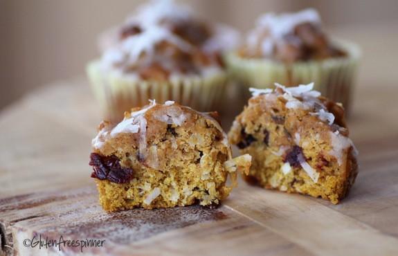 Pumpkin Cherry Sunrise Muffins Gluten Free Spinner