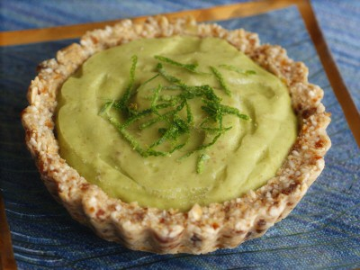 Raw Key Lime Tarts. Gluten free, vegan.