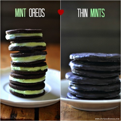 Thin Mint Oreos from Fork and Beans