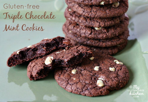 Triple Chocolate Mint Cookies from My Gluten-Free Kitchen