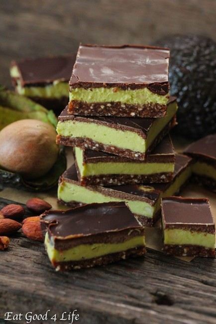 Avocado Mint Cream Bars from Rawsome Vegan Baking via Eat Good 4 Life